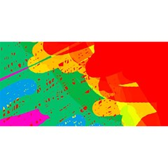 Colorful abstract design YOU ARE INVITED 3D Greeting Card (8x4)