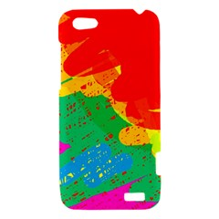Colorful abstract design HTC One V Hardshell Case