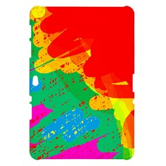 Colorful abstract design Samsung Galaxy Tab 10.1  P7500 Hardshell Case