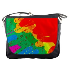 Colorful abstract design Messenger Bags