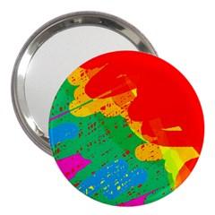 Colorful abstract design 3  Handbag Mirrors
