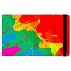 Colorful abstract design Apple iPad 2 Flip Case
