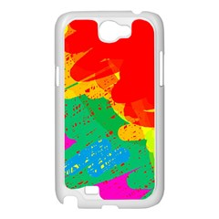 Colorful abstract design Samsung Galaxy Note 2 Case (White)