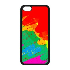 Colorful abstract design Apple iPhone 5C Seamless Case (Black)