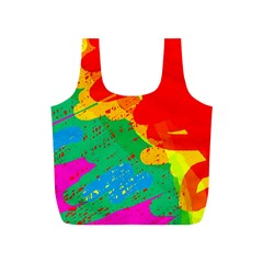 Colorful abstract design Full Print Recycle Bags (S)