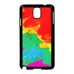 Colorful abstract design Samsung Galaxy Note 3 Neo Hardshell Case (Black)