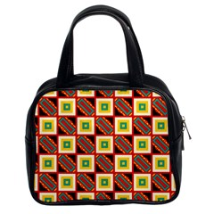 Squares and rectangles pattern                                                                                          Classic Handbag (Two Sides)