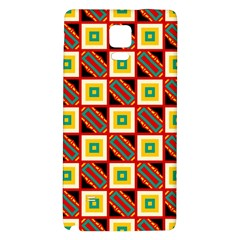 Squares and rectangles pattern                                                                                         Samsung Note 4 Hardshell Back Case