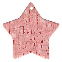 Elegant pink pattern Ornament (Star)