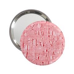 Elegant pink pattern 2.25  Handbag Mirrors