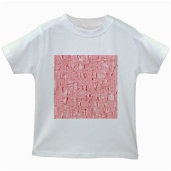Elegant pink pattern Kids White T-Shirts