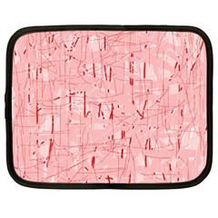 Elegant pink pattern Netbook Case (XXL)