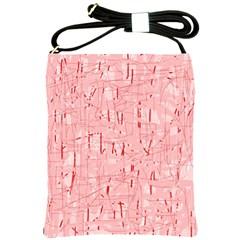Elegant pink pattern Shoulder Sling Bags