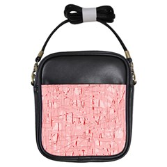 Elegant pink pattern Girls Sling Bags
