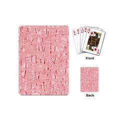Elegant pink pattern Playing Cards (Mini)