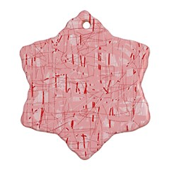 Elegant pink pattern Snowflake Ornament (2-Side)