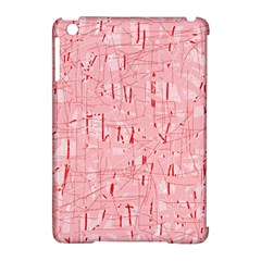 Elegant pink pattern Apple iPad Mini Hardshell Case (Compatible with Smart Cover)