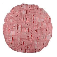 Elegant pink pattern Large 18  Premium Round Cushions