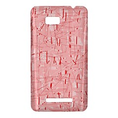 Elegant pink pattern HTC One SU T528W Hardshell Case