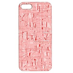 Elegant pink pattern Apple iPhone 5 Hardshell Case with Stand