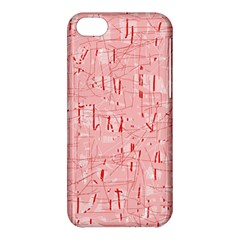 Elegant pink pattern Apple iPhone 5C Hardshell Case