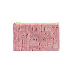 Elegant pink pattern Cosmetic Bag (XS)