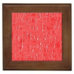 Red pattern Framed Tiles