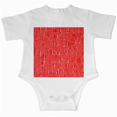 Red pattern Infant Creepers