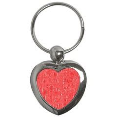 Red pattern Key Chains (Heart)