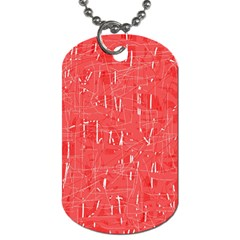 Red pattern Dog Tag (Two Sides)