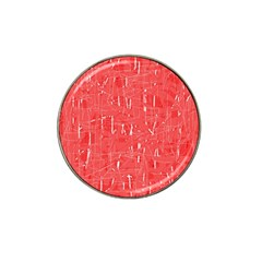 Red pattern Hat Clip Ball Marker (10 pack)