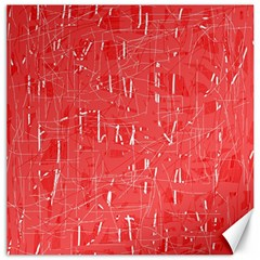Red pattern Canvas 12  x 12