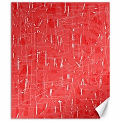 Red pattern Canvas 20  x 24