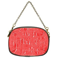 Red pattern Chain Purses (One Side)