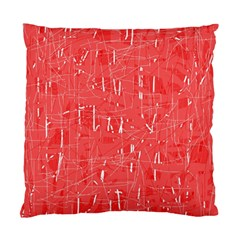 Red pattern Standard Cushion Case (One Side)