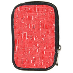 Red pattern Compact Camera Cases