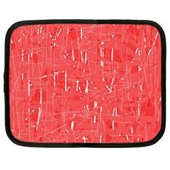 Red pattern Netbook Case (XL)