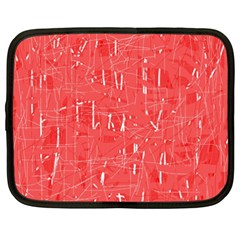 Red pattern Netbook Case (XXL)