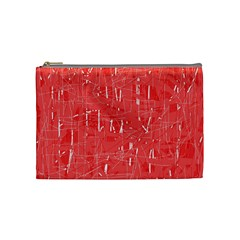 Red pattern Cosmetic Bag (Medium)