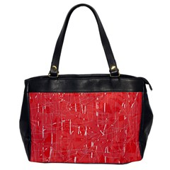 Red pattern Office Handbags