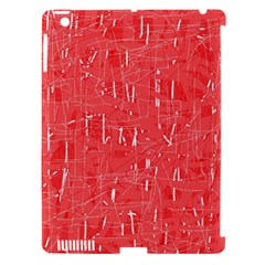 Red pattern Apple iPad 3/4 Hardshell Case (Compatible with Smart Cover)