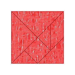 Red pattern Acrylic Tangram Puzzle (4  x 4 )
