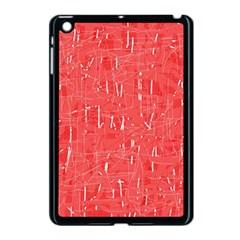 Red pattern Apple iPad Mini Case (Black)