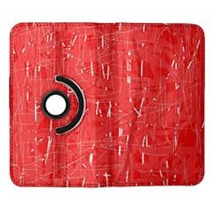 Red pattern Samsung Galaxy Note II Flip 360 Case