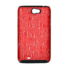 Red pattern Samsung Galaxy Note 2 Hardshell Case (PC+Silicone)