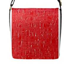 Red pattern Flap Messenger Bag (L)