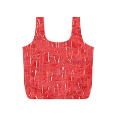 Red pattern Full Print Recycle Bags (S)
