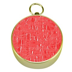 Red pattern Gold Compasses