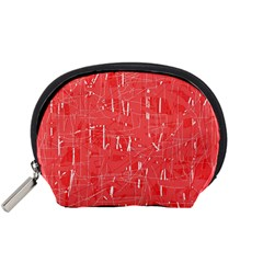 Red pattern Accessory Pouches (Small)