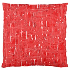 Red pattern Large Flano Cushion Case (One Side)